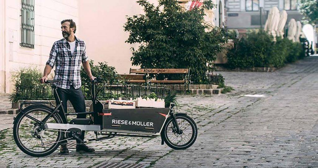 velo cargo ideal pour les zones pietones